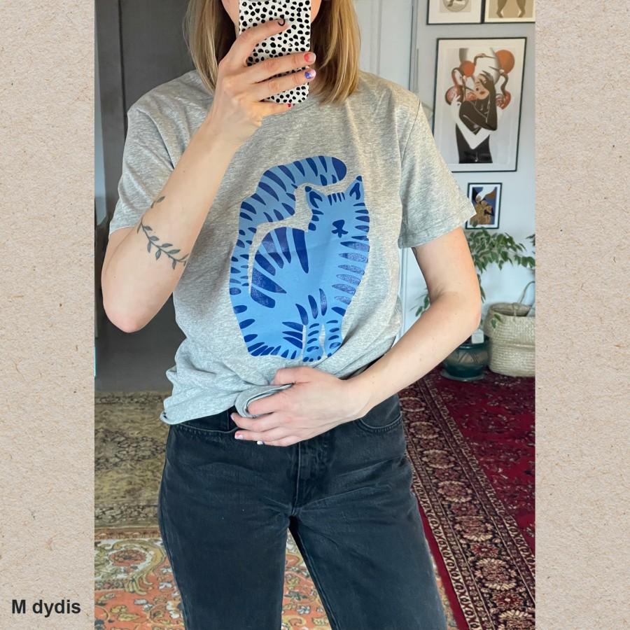 Unisex marškinėliai KATINO DIENOS (pilki)