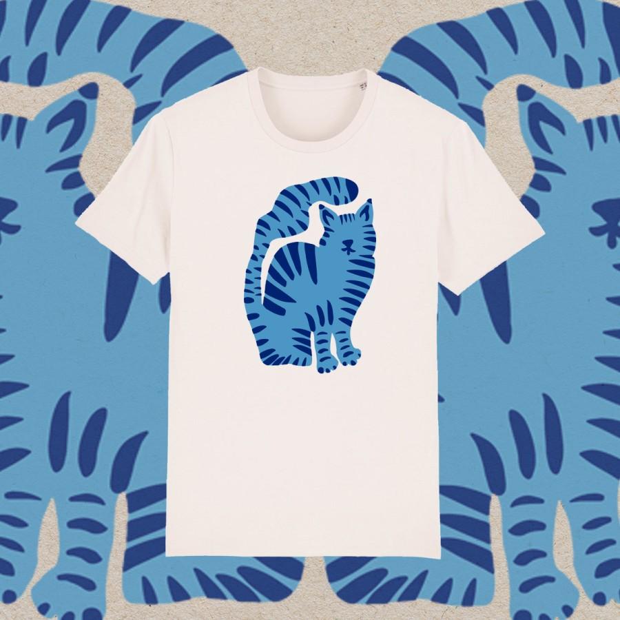 Unisex marškinėliai KATINO DIENOS (vintage white)